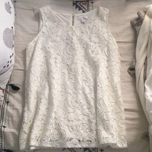 Ivory Lace Blouse (Charter Club)